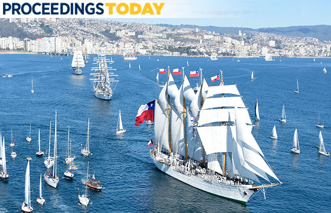 Armada de Chile Bicentenary Tallship Parade, Port of Valparaíso, June 3rd, 2018
