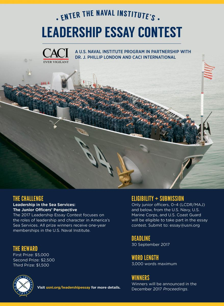 Naval Institute's General Prize Essay Contest