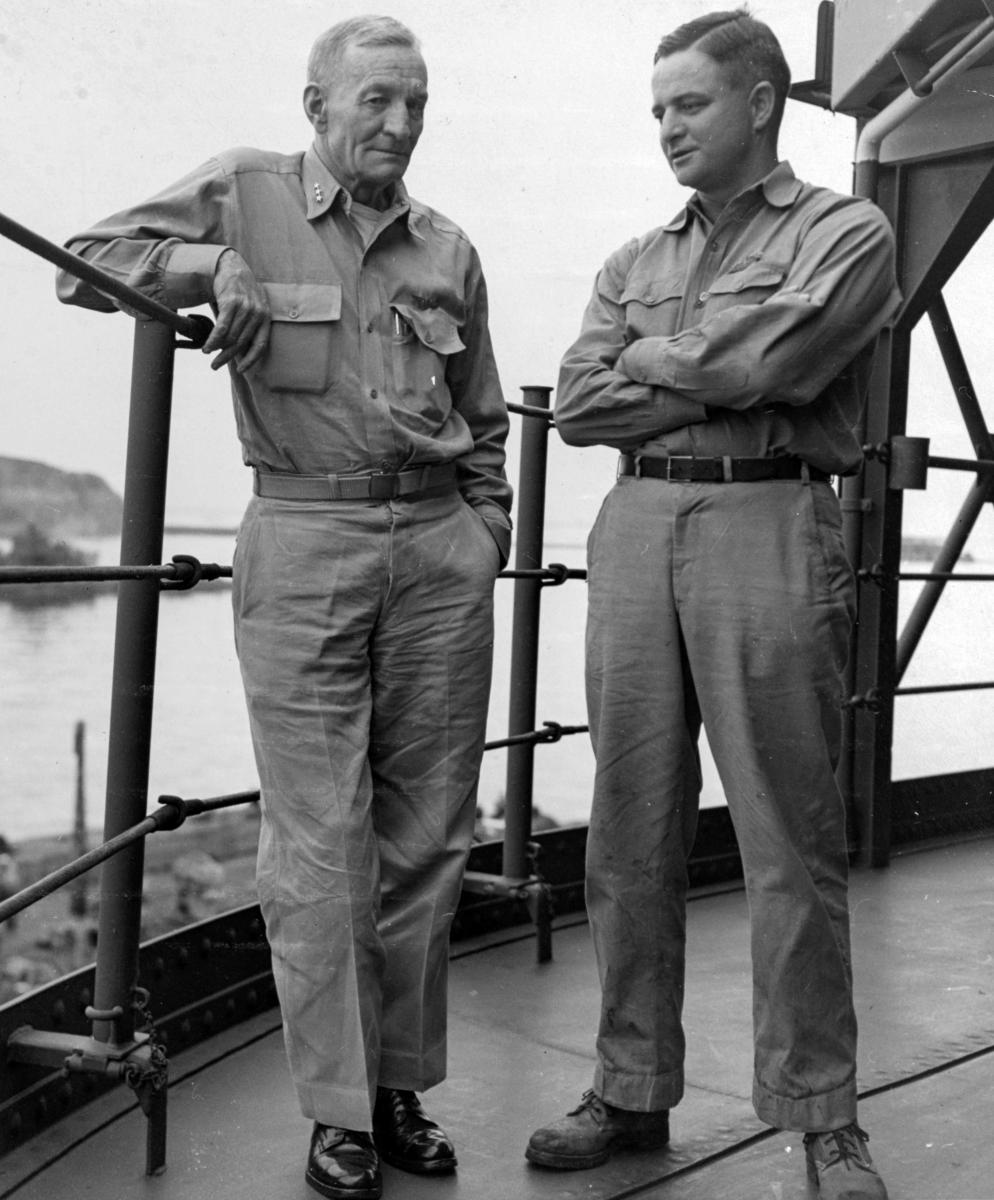 Admiral McCain (right) and his father (left)