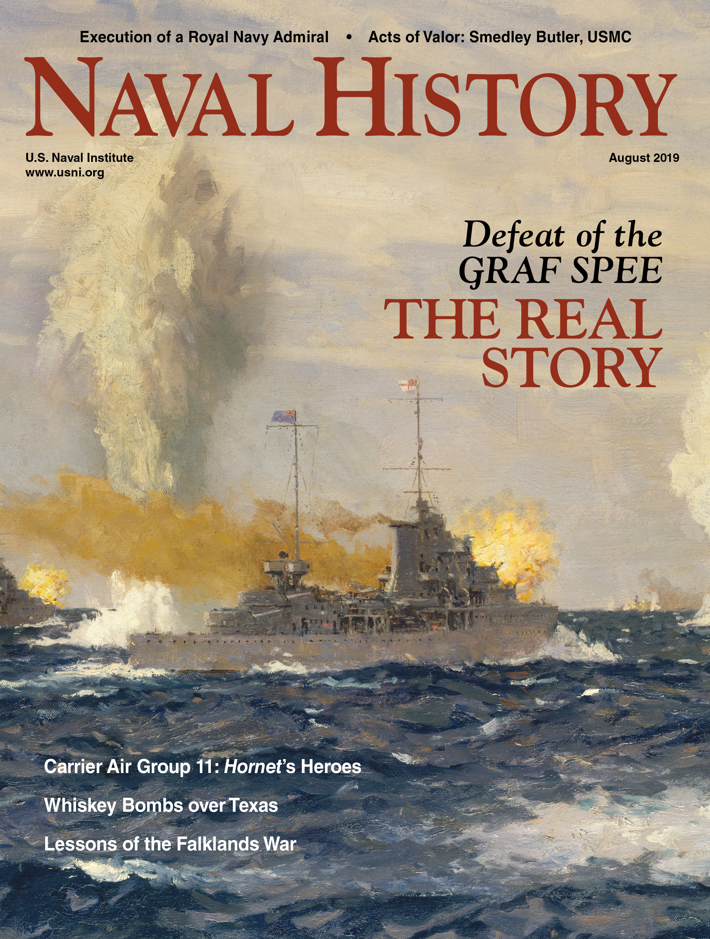 Naval History Magazine - August 2019, Volume 33, Number 4 Cover