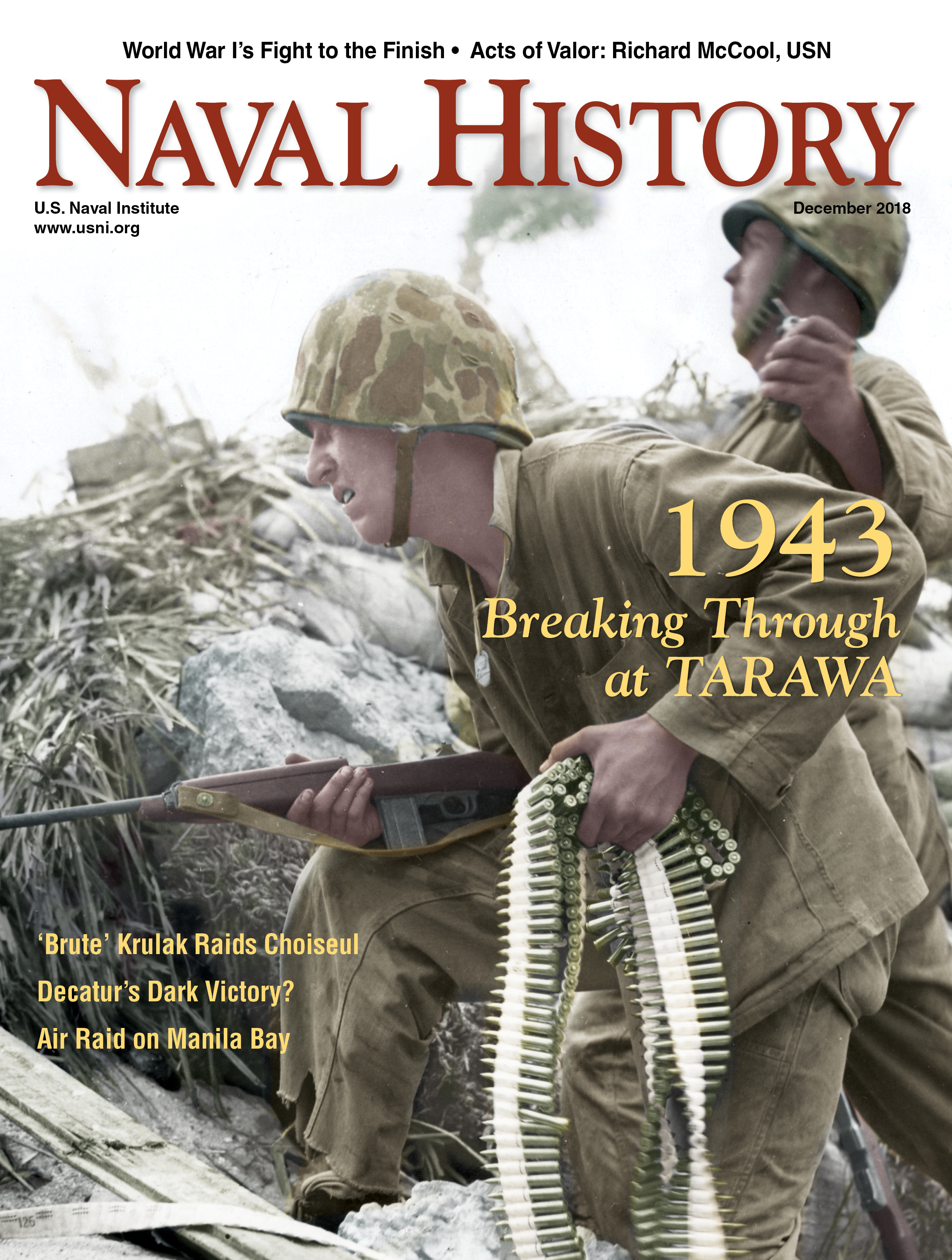 Naval History Magazine Cover, December 2018 Volume 32, Number 6