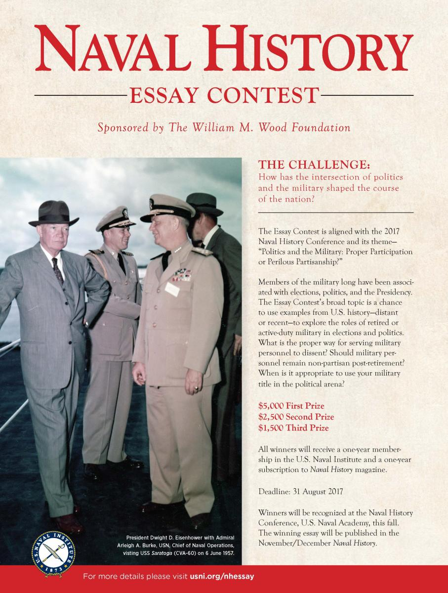 history essay competitions At the us naval institute, the naval history essay contest is now available   ari has held worldwide essay contests for students on ayn rand's fiction for [.