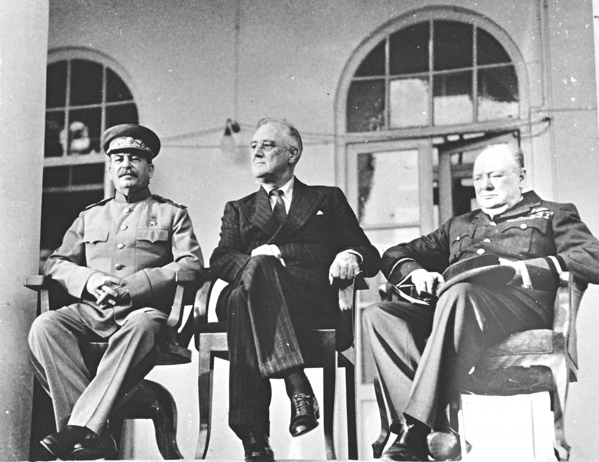 Stalin, Roosevelt, and Churchill