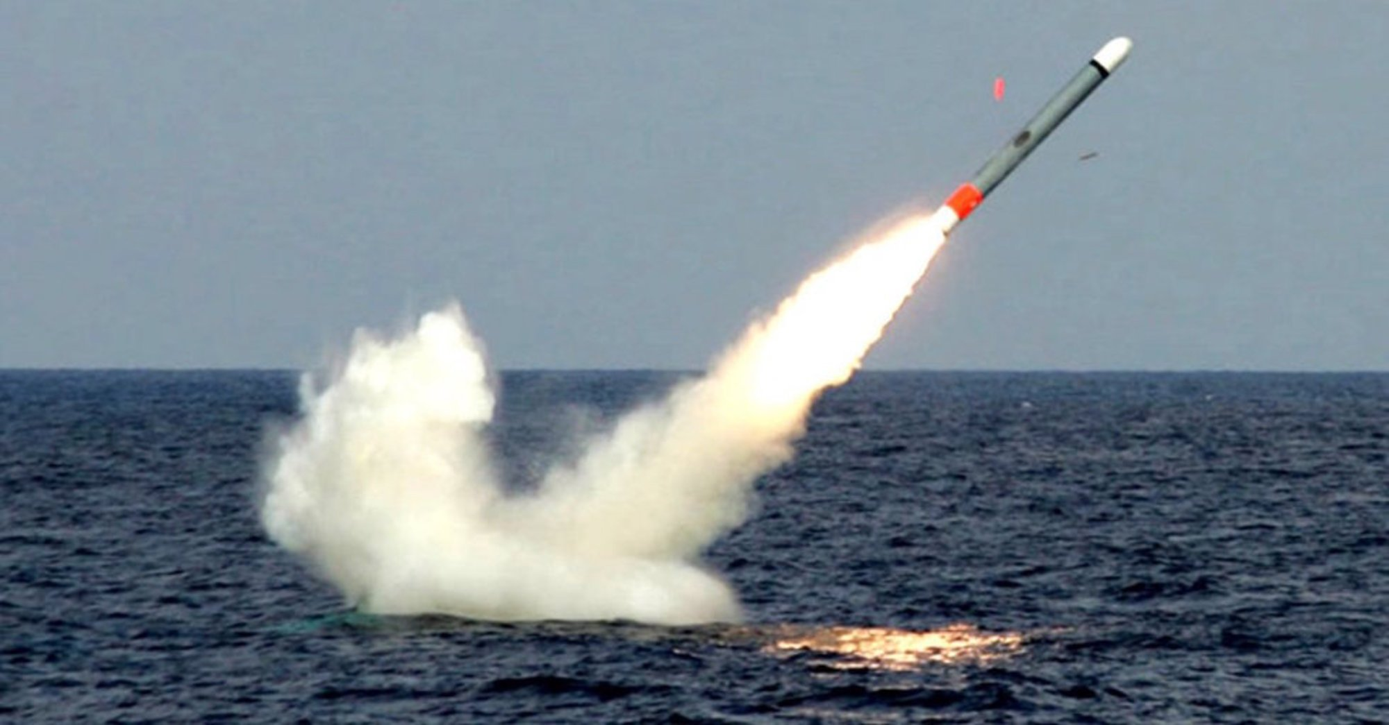 Underwater launching of a Tomahawk SLBM