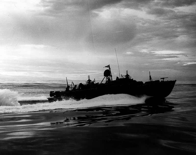 A PT boat of the same type as PT-44 in the Pacific in Word War II.