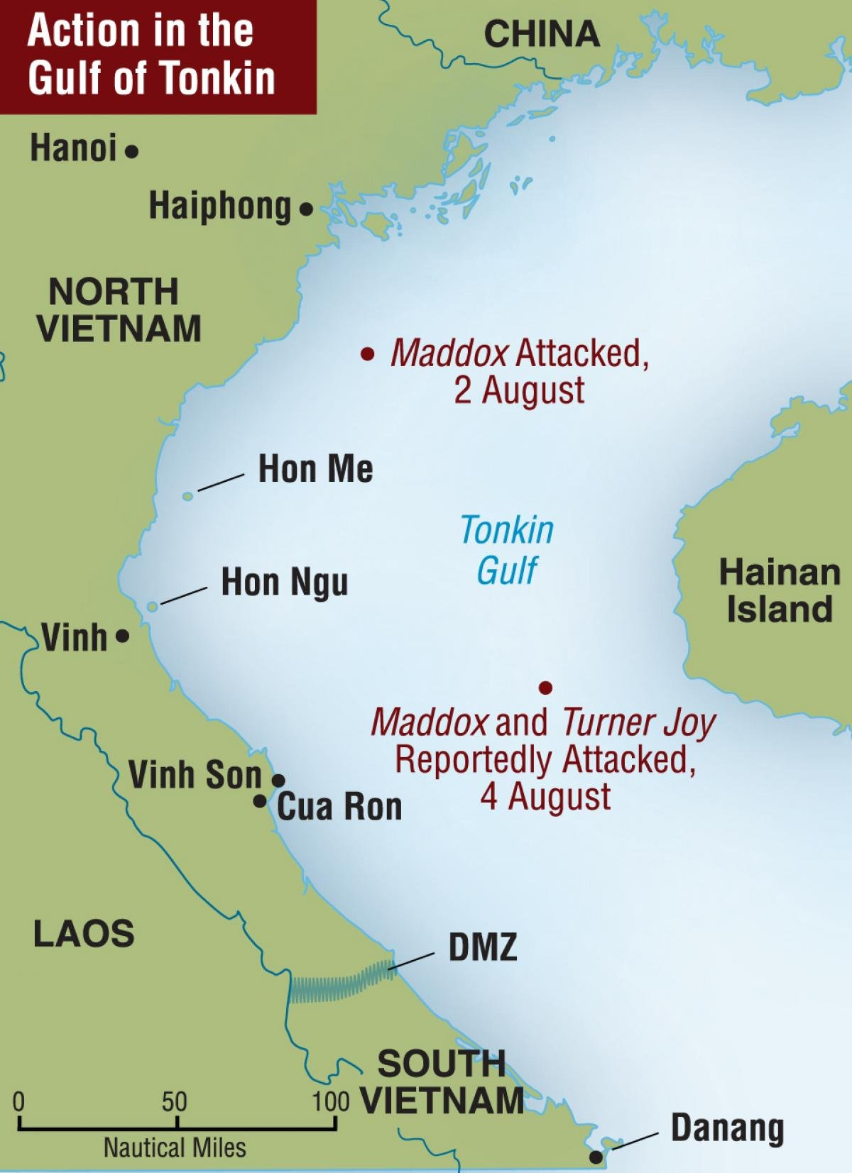 Map Of Asia Gulf Of Tonkin.The Truth About Tonkin Naval History Magazine February 2008