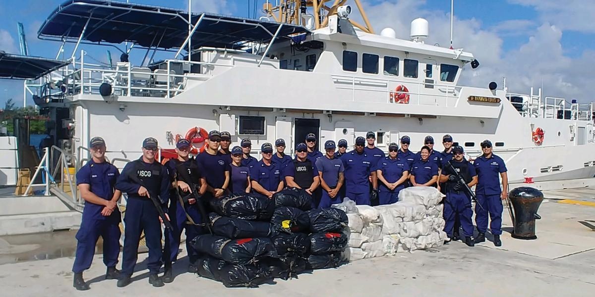 Coast Guard offloads 970 pounds of and 550 pounds of marijuana at Base Miami Beach