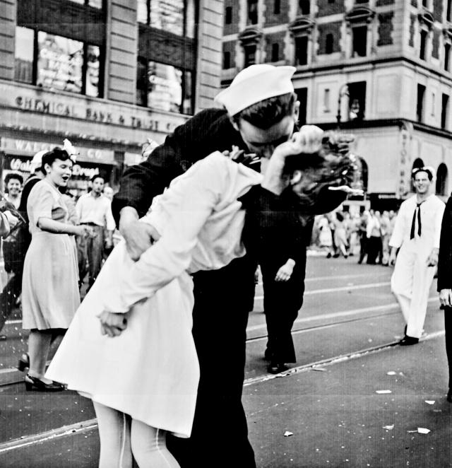 New York City celebrating the surrender of Japan.