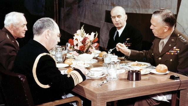 Fleet Admiral Ernest King lived on board his flagship during World War II, but his schedule also was full of unstructured time. Once each week, he had lunch with other members of the Joint Chiefs.