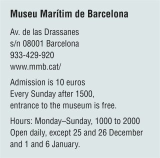 Information table for the Museu Marítim de Barcelona