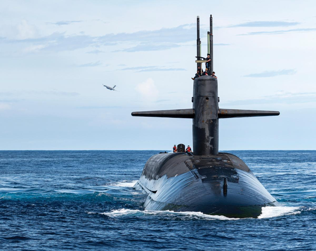 The sea-based strategic deterrent inherent in the U.S. Navy's ballistic missile submarines will remain a vital part of our national defense. Here, the USS Henry M. Jackson (SSBN-730) is at sea in late 2020 off the Hawaiian Islands.