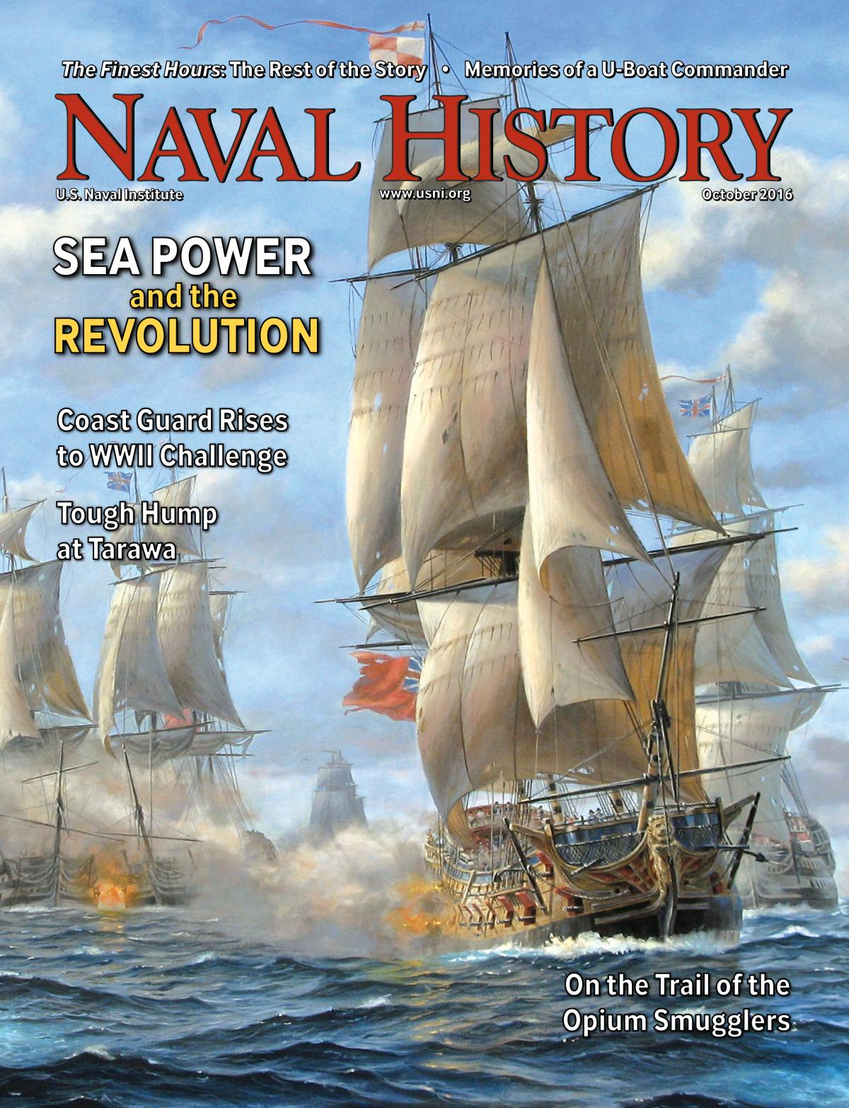 Naval History Magazine - October 2016 Volume 30, Number 5 Cover