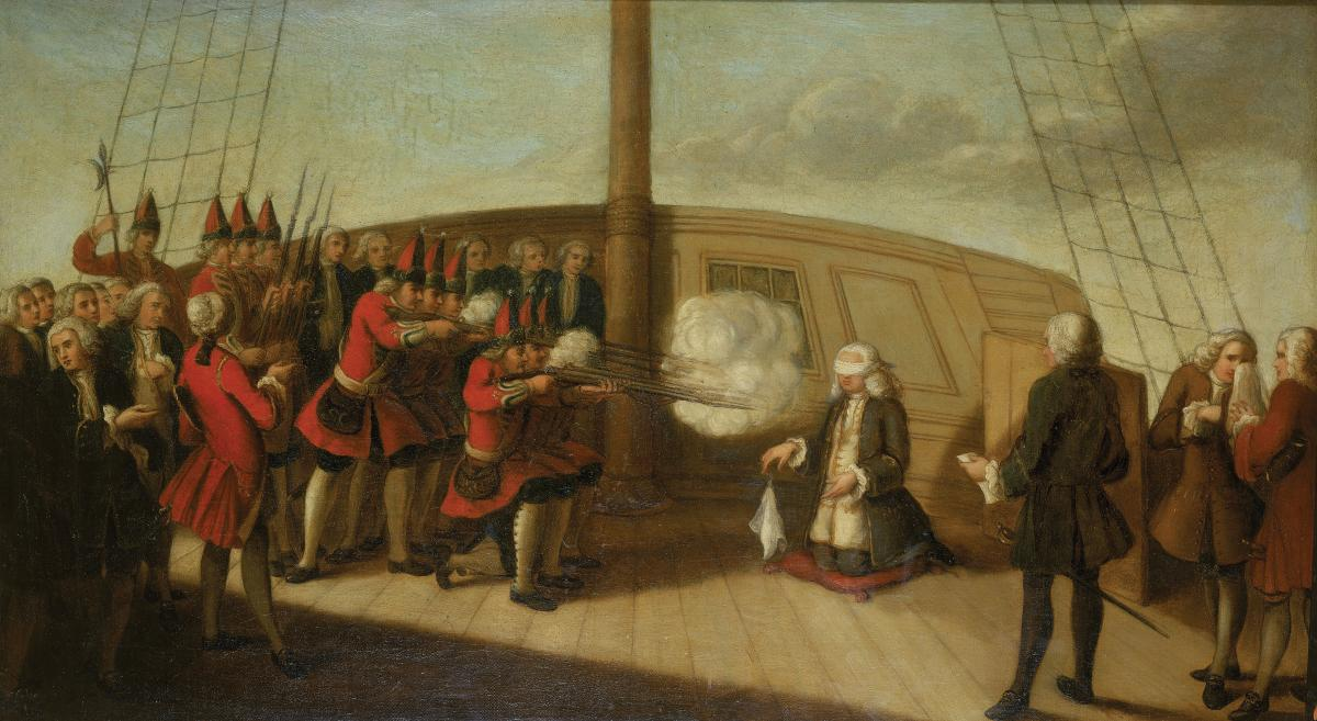 "Painting of ""The Execution of Admiral Byng, 14 March 1757"""