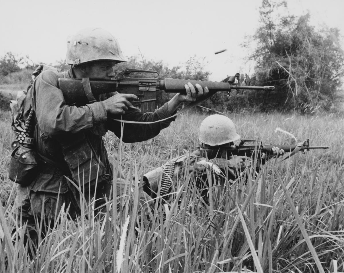 Sniper fire during Operation Meade River.