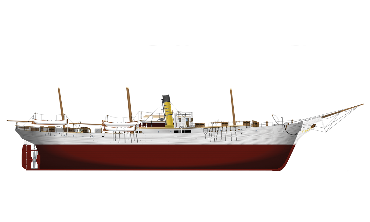 Profile drawing of USRC Bear