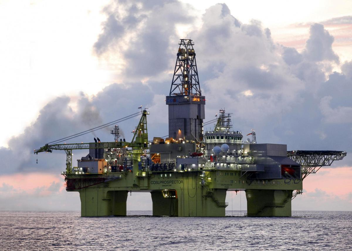 Xingwang drilling platform in the south China Sea