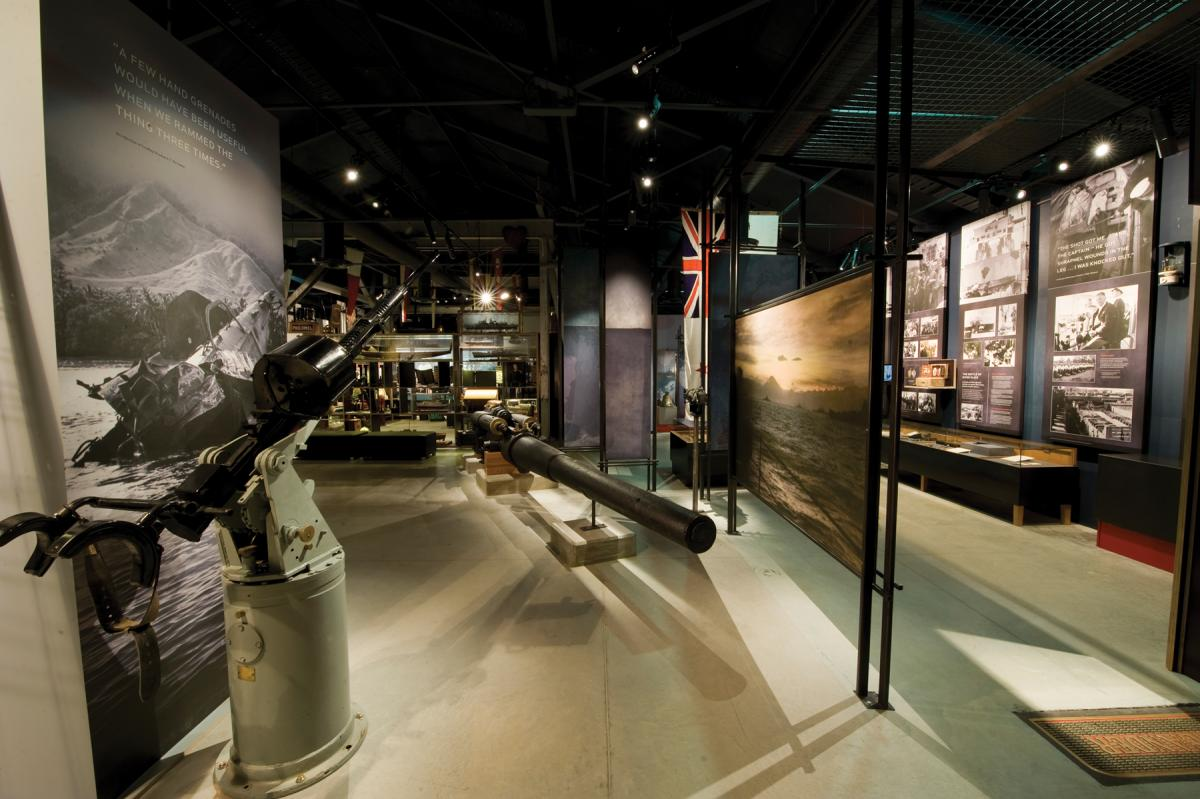 World War II gallery at the National Museum of the Royal New Zealand Navy