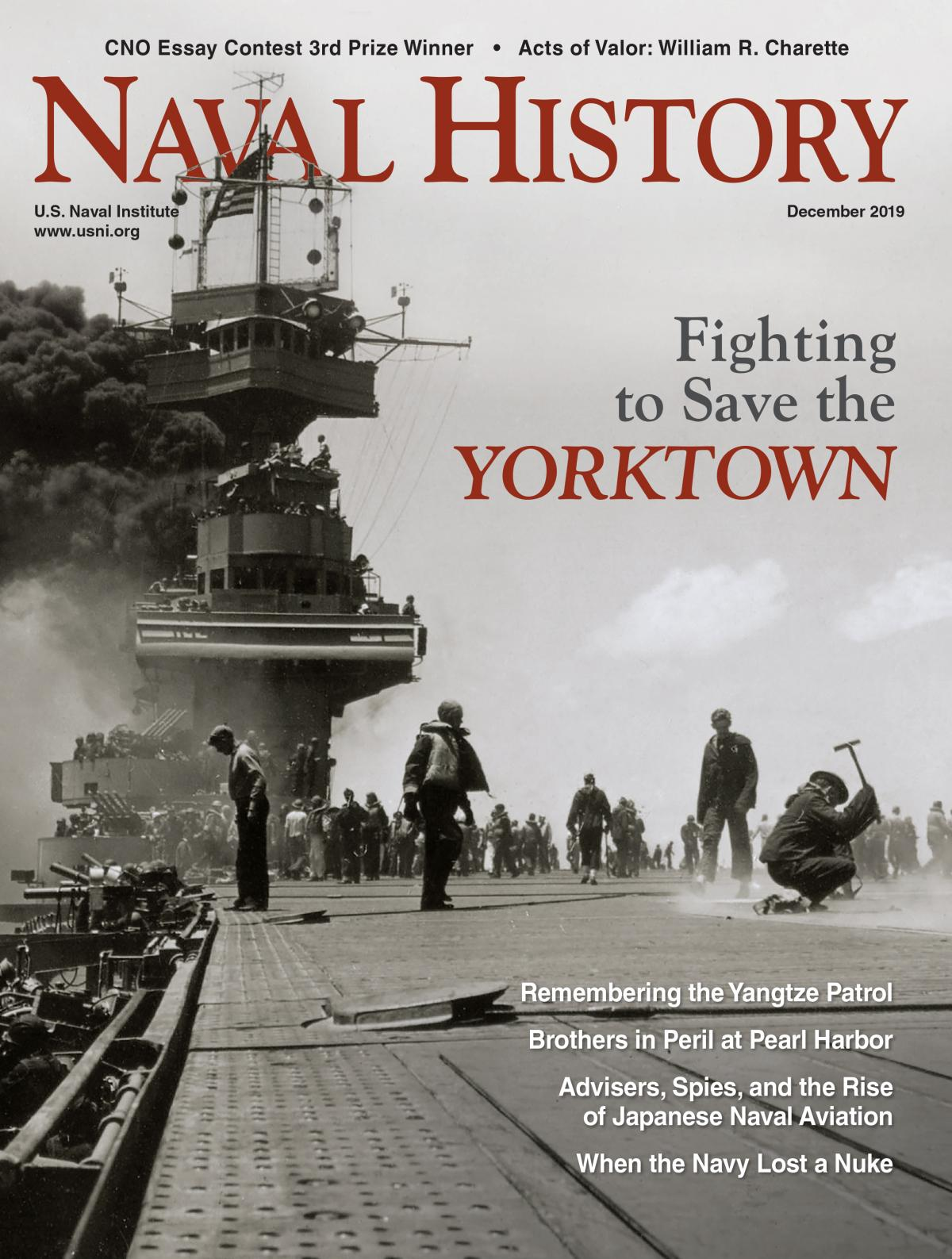 Naval History Magazine - December 2019 Volume 34, Number 6 Cover
