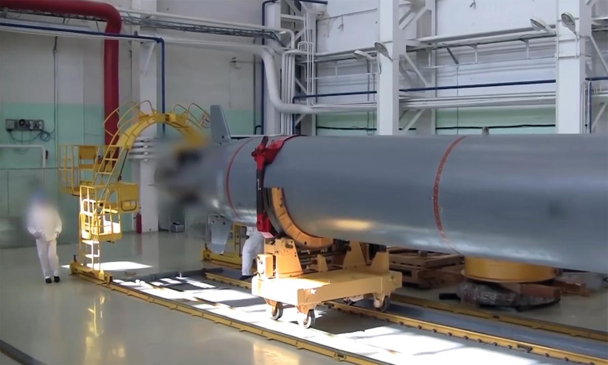 A screenshot of the Poseidon/Kanyon nuclear drone taken from a Russian television program