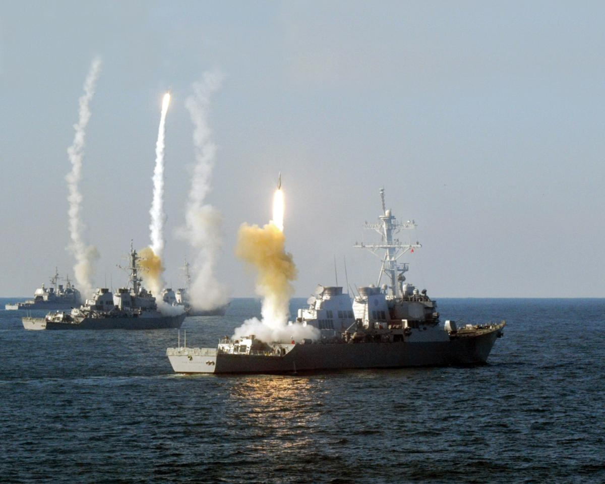 2003 missile exercise conducted by the USS Vicksburg (CG-69), Roosevelt (DDG-80), Carney (DDG-64), and The Sullivans (DDG-68)