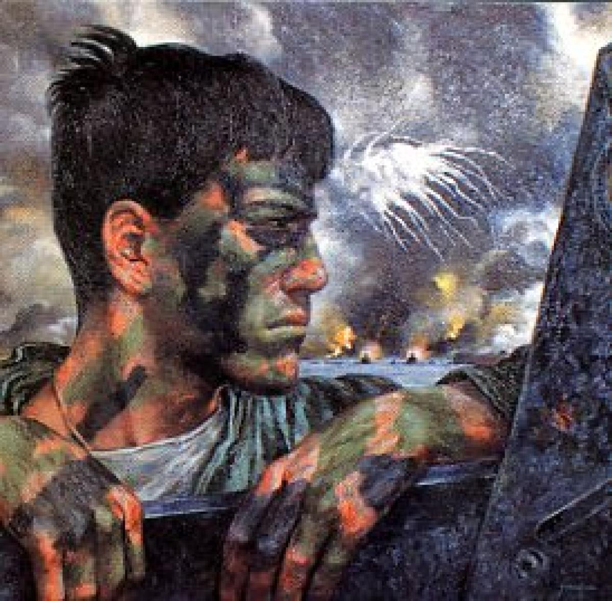 ARTWORK BY TOM LEA, COURTESY OF THE U.S. ARMY CENTER FOR MILITARY HISTORY