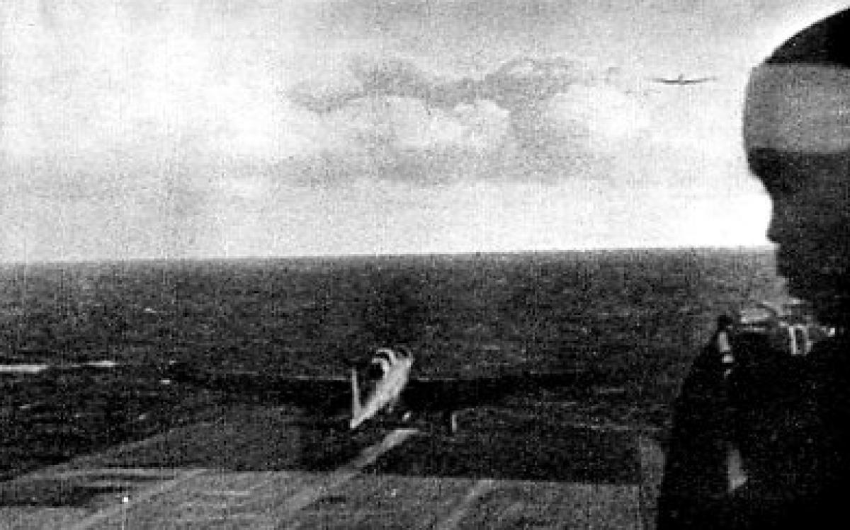 JAPANESE PHOTOGRAPH RELEASED BY U.S. NAVY