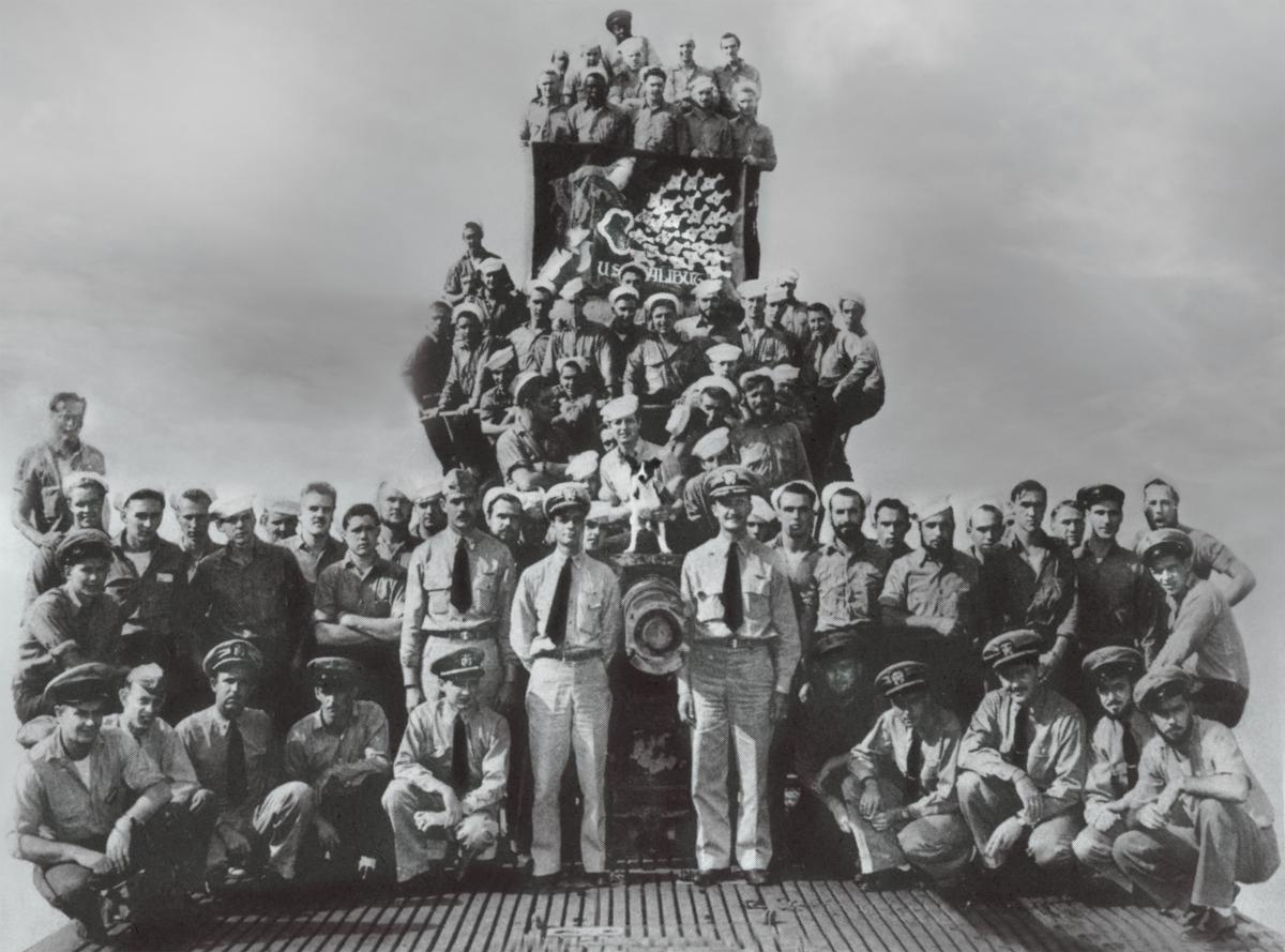 The crew of the USS Halibut (SS-232) who were serving on board during her tenth and final war patrol.