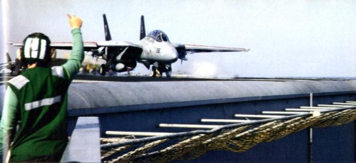 F-14 LAUNCHES FROM THE THEODORE ROOSEVELT (SVN-71) DURING DENY FLIGHT (DOD/D. OSMUN)