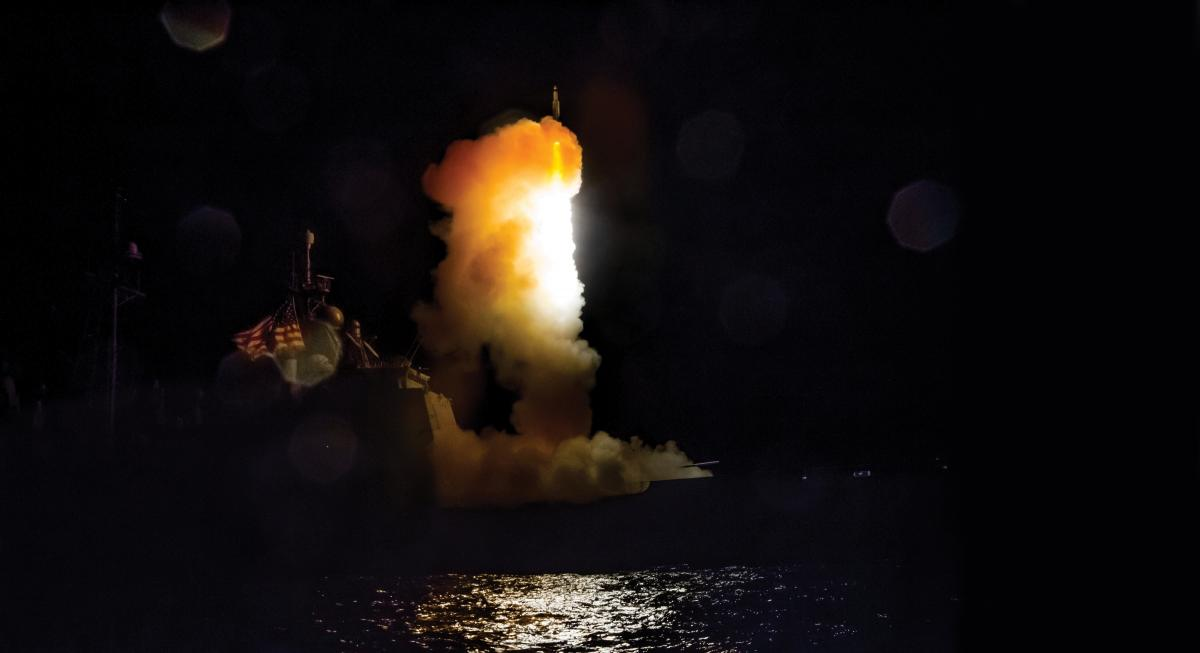 A Standard Missile-3 launching from the USS Lake Erie