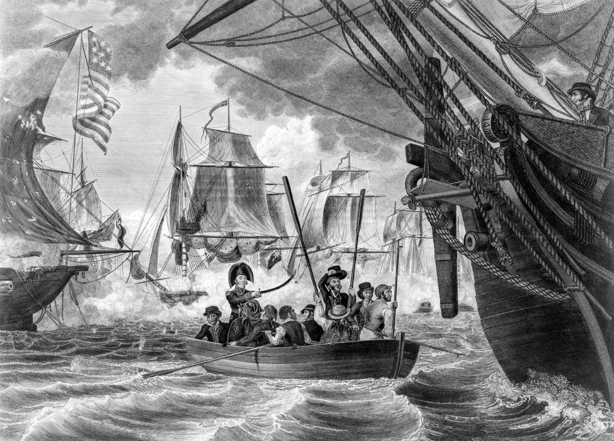 Engraving of Perry's Victory on Lake Erie