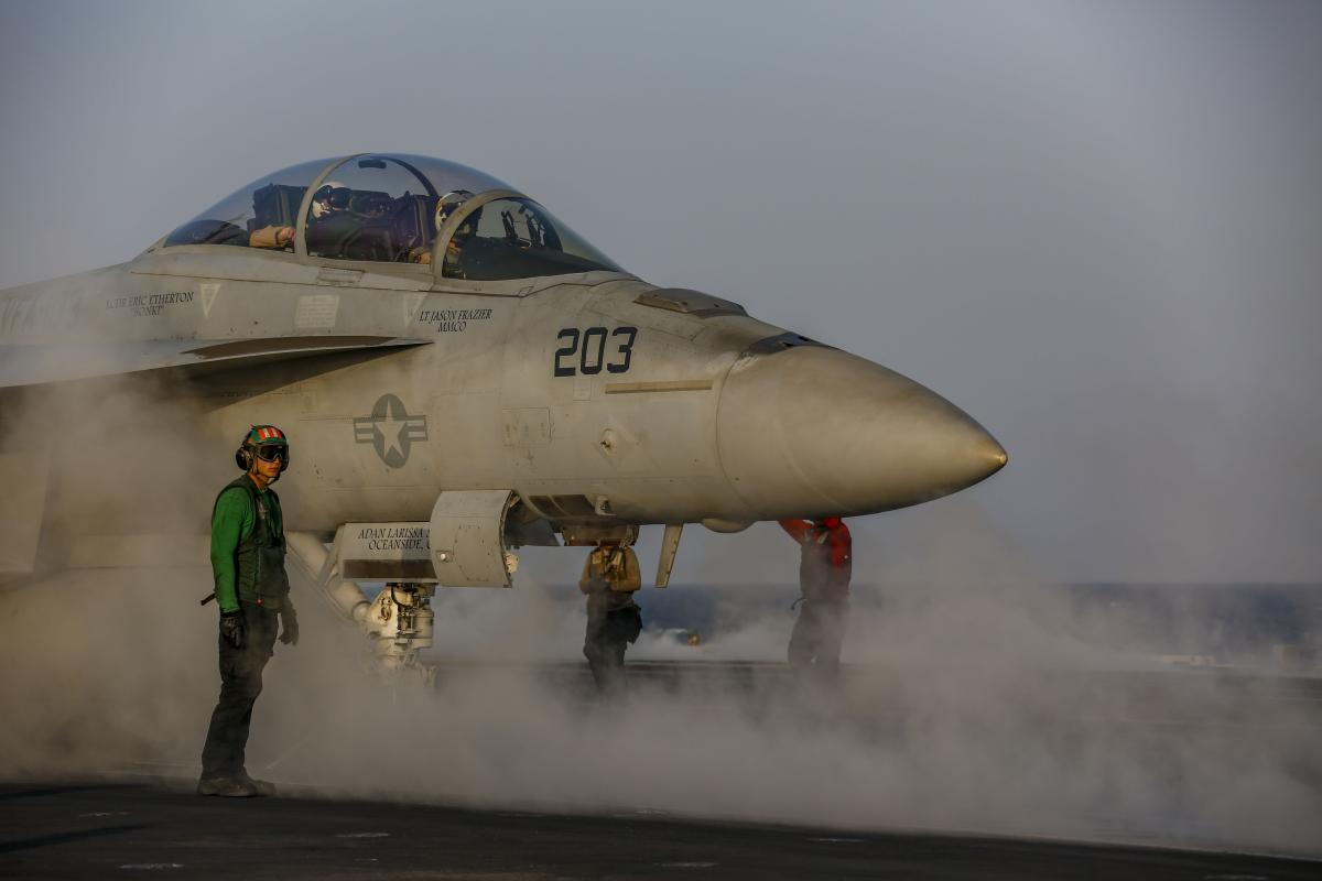 Navy F/A-18F SuperHornet on the catapult