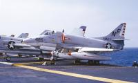 Douglas A-4E Skyhawk of VA-56 on board the USS Ticonderoga (CVA-14) in October 1965