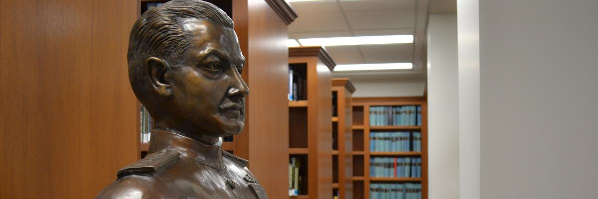Tolley Bust in Library