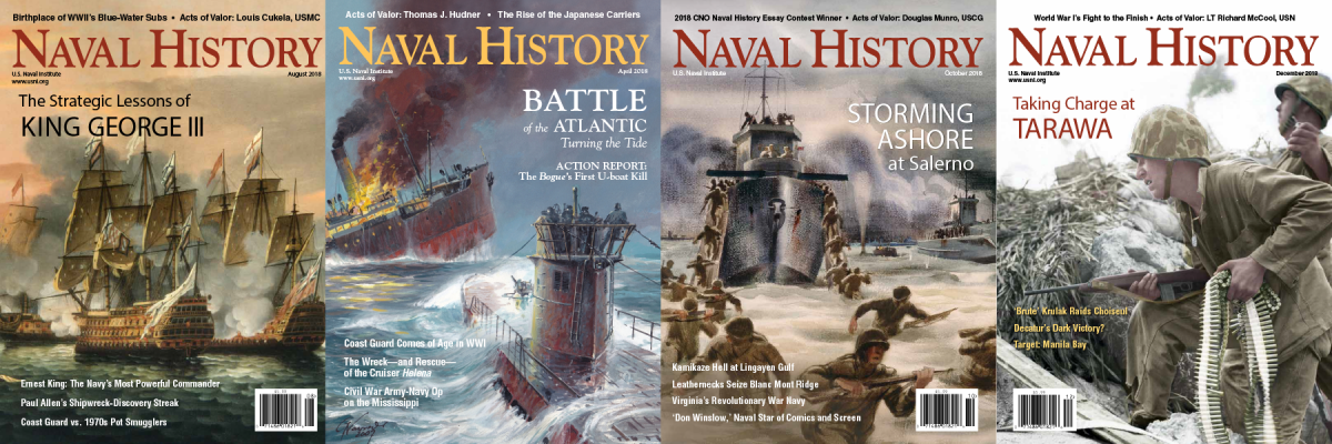 Four Naval History Magazine covers