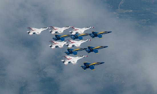 The U.S. Navy Flight Demonstration Squadron, the Blue Angels, and the U.S. Air Force Air Demonstration Squadron, the Thunderbirds, honored frontline COVID-19 first responders and essential workers with formation flights in April and May.