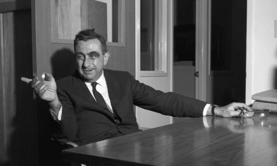 Dr. Edward Teller on the occasion of being presented the Fermi Award in 1962.
