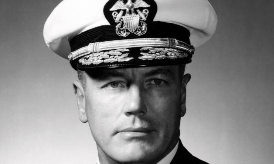 Head-and-shoulders portrait of Rear Admiral Herbert Spencer Matthews Jr.