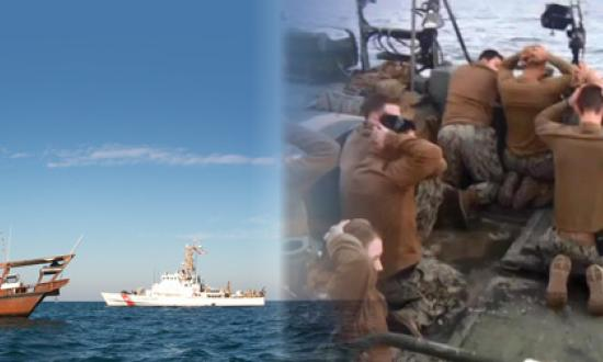 U.S. Coast Guard (Michelle Roberts) Screen shot from an IRGC video released by Iranian state-controlled media