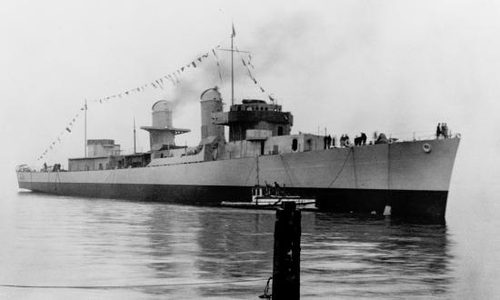 USS Johnston at Sea