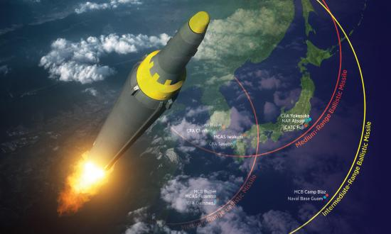 Missile: Alamy / Underlying Map: Shutterstock