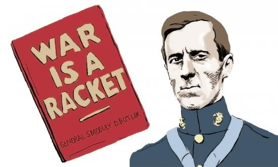 Smedley Butler with War is a Racket