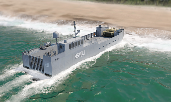 An artist's concept of a maneuver support vessel (light).