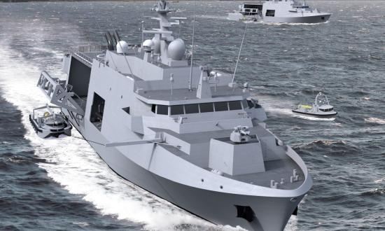Computer rendering of the new MCM vessel ordered by Belgium and the Netherlands in 2019