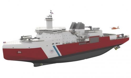 Computer rendering of the U.S. Coast Guard Polar Security Cutter