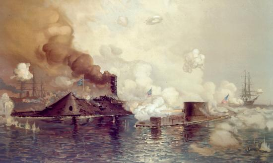 """The Monitor and Merrimac: The First Fight Between Ironclads"" by J. O. Davidson"