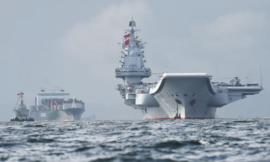 The Chinese aircraft Carrier Liaoning.