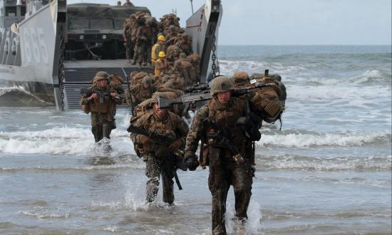 Marines coming ashore