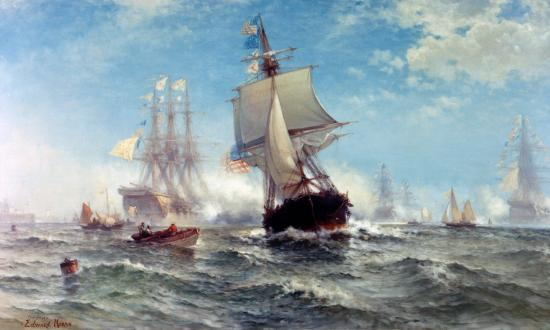 First Foreign Salute to the United States Flag by Edward Moran