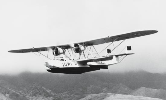 A P2Y-1 of Patrol Squadron 10F in flight, 1934.