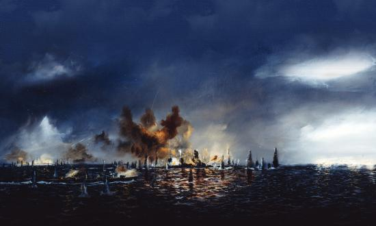 John Hamilton's depiction of the Battle of Surigao Strait